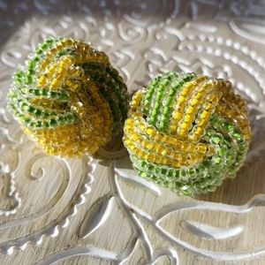 VTG Japan Lemon & Lime knot clip earrings